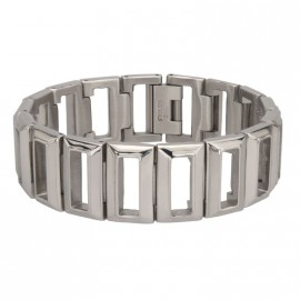 STEEL CUT OUT WOMAN BRACELET