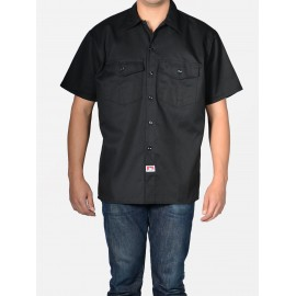 SHORT SLEEVE BOWLING SHIRT BLACK