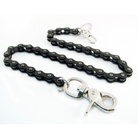 BLACK BIKE CHAIN WALLET CHAIN