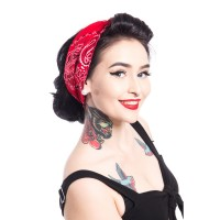 BANDANA PRAISLEY RED