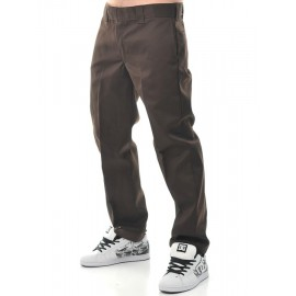 PANTALONI 873 SLIM FIT REGULAR DARK BROWN