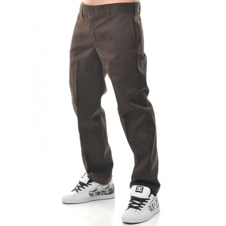 PANTALONI 873 SLIM FIT REGULAR MARRONE