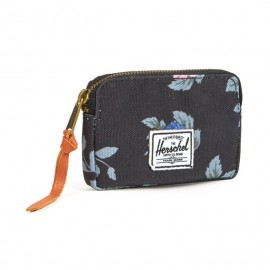OXFORD POUCH BLACK FLORAL MINI WALLET
