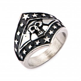 SKULL STAR MAN RING
