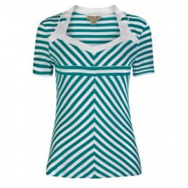 ROSALINE GREEN STRIPES TOP