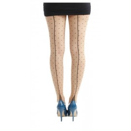 JIVE DOTTY STOCKING NUDE/BLACK