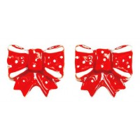 RED BOWS EARRINGS