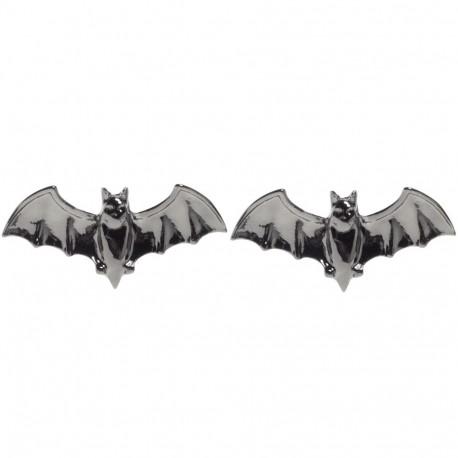 BLACK BATS EARRINGS