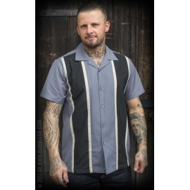 CAMICIA TWO STRIPES SMOKEY GREY
