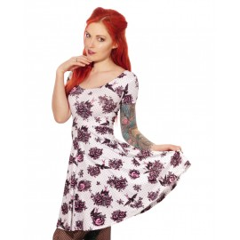 VESTITO ROSE SPARROW WHITE
