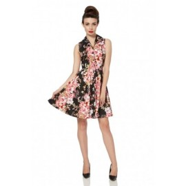 DRESS FLOWERS BLACK