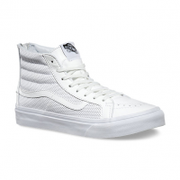 SK8-HI SLIM ZIP PERF LEATHER WHITE