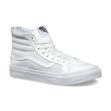 bd4148456830e3 SK8-HI SLIM ZIP PERF LEATHER WHITE - Rust Factory