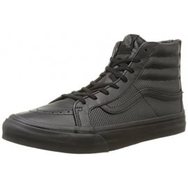 SK8-HI SLIM ZIP PERF LEATHER BLACK