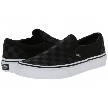SLIP ON CHECKBOARD BLACK