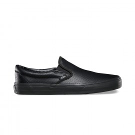 SLIP ON PERF LEATHER BLACK