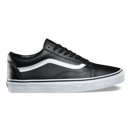OLD SKOOL ZIP PREMIUM LEATHER BLACK