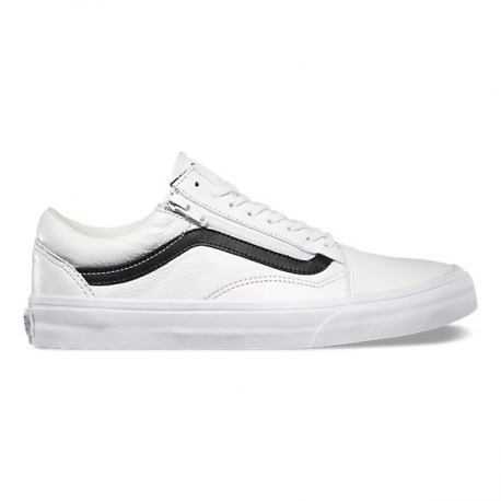 ca5ecc82f5 OLD SKOOL ZIP PREMIUM LEATHER WHITE - Rust Factory