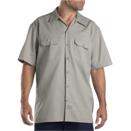 SHORT SLEEVE WORK SHIRT SILVER GREY