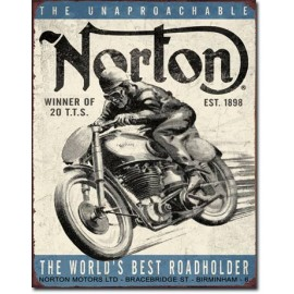 NORTON WINNER TIN SIGN