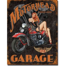 MOTORHEAD GARAGE TIN SIGN
