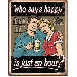 HAPPY HOUR TIN SIGN