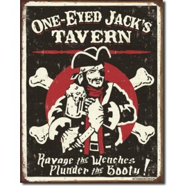 ONE EYED JAKCS TIN SIGN