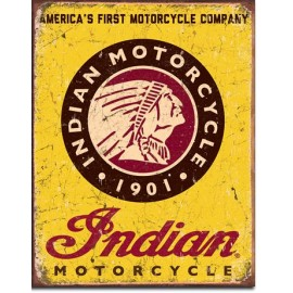 INDIAN MOTORCYCLE TIN SIGN