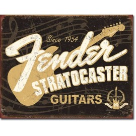 STRATOCASTER 60TH ANNIVERSARY TIN SIGN