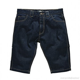 PANTALONI CORTI KENTUCKY RINSED DENIM BLU