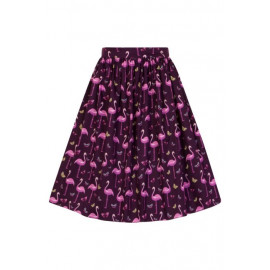 DELLA SKIRT ROCKABILLY FLAMINGO