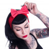 BAILIE HEADBAND RED POLKADOT
