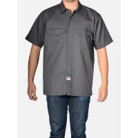 SHORT SLEEVE BOWLING SHIRT CHARCOAL