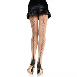 CORSET LACE UP PANTYHOSE