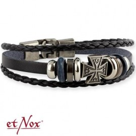 BRACCIALE PELLE IRON CROSS