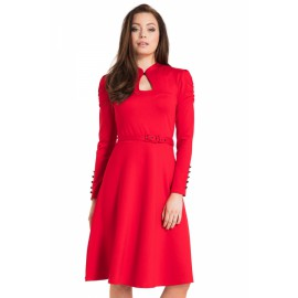 DITA 50S FLARED RED DRESS