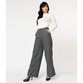 PIPPA PINSTRIPE GREY TROUSERS
