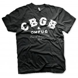 T-SHIRT CBGB & OMFUG LOGO