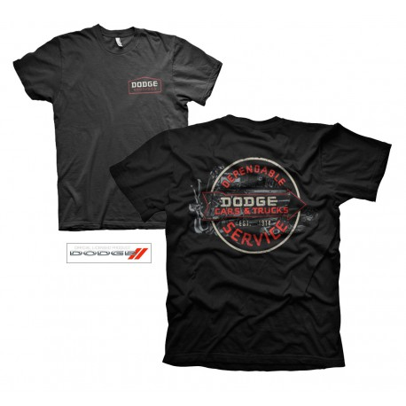 7c1d6996b237df T-SHIRT UOMO VINTAGE LOGO DODGE | T-shirt rock, rockabilly, biker ...
