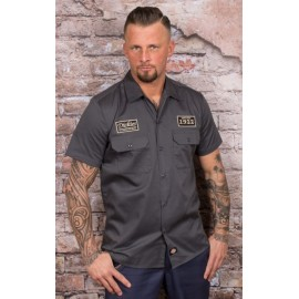 NORTH IRWIN SHORT SLEEVE WORK SHIRT CHARCOAL