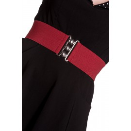 VINTAGE STRETCH BELT BORDEAUX