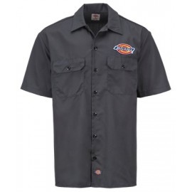 CLINTONDALE SHORT SLEEVE WORK SHIRT CHARCOAL