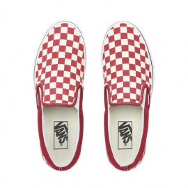 CHECKERBOARD SLIP-ON SHOES RUMBA RED