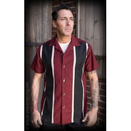 CAMICIA TWO STRIPES RED WINE