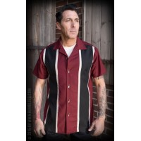 TWO STRIPES RED WINE SHIRT