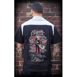 THE MAN IN BLACK BOWLING SHIRT
