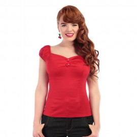 TOP DOLORES ROSSO