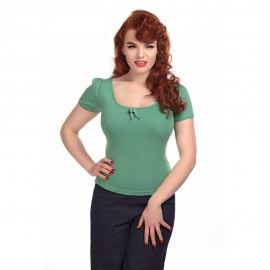 ROBERTA PLAIN T-SHIRT MINT GREEN