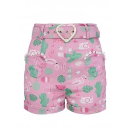 SHORTS LISA SUMMER FLAMINGO