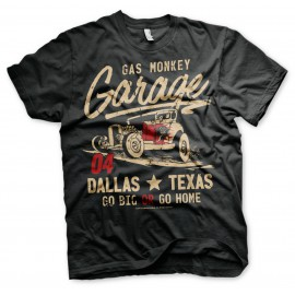 T-shirt Gas Monkey Garage Go Big or Go Home
